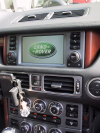 interfaccia video range rover